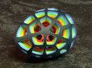 Mosaic Egg #5 in Full Color Sandstone