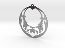 BlakOpal Victorian Open Hoop Earring in Polished Silver