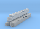 N Scale F40DDPH w/Waffle Side Panels in Frosted Ultra Detail