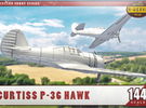 """1/144th - Curtiss 75 """"Hawk"""" (P36) in Frosted Ultra Detail"""