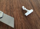 French Window latch, batch of 4 in White Strong & Flexible Polished