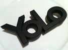 yolo belt-buckle in White Strong & Flexible