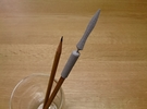 Yari (Japanese spear) Pen Cap in Polished Metallic Plastic