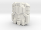 Monstructor Face, G1 (Titans Return) in White Strong & Flexible