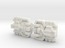 Monstructor Face 2-Pack (Titans Return) in White Strong & Flexible