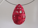 Egg before Chicken - Pendant in White Strong & Flexible Polished
