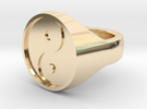 Yinyang Signet Ring in 14k Gold Plated