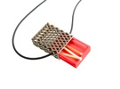 Matchbox Pendant - exterior metal only in Stainless Steel