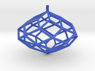 Rhombic Polyhedron Top in Blue Strong & Flexible Polished