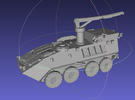 1/144 LAV-R (Recovery Vehicle) in White Strong & Flexible