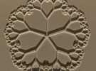 Fractal Tree Mat with the golden ratio proportions in White Strong & Flexible