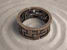 Labyrinth ring: size 11 (US) W (UK) in Polished Bronze Steel