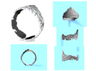 Cloud Ships Lightning, Ring Size 8 in White Strong & Flexible
