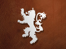 Lannister Ornament / Pendant in White Strong & Flexible