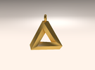 Penrose Triangle - Pendant (3.5cm | 3.5mm O-Ring) in Stainless Steel