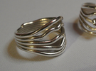 HeliX Love 'n Kisses Ring - 18 mm in Polished Silver