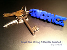 I Love Dance KeyChain in Blue Strong & Flexible Polished
