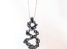Pendant_top_spiral_Kak in Black Strong & Flexible