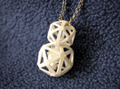Polyhedron Snowman Pendant in White Strong & Flexible