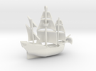 Galleon Small (Nov 1) in White Strong & Flexible