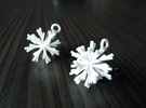Snowflake Earring Iva in White Strong & Flexible