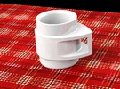 Coffee Mug in White Strong & Flexible Polished
