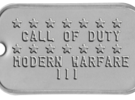 Call of Duty Modern Warfare 3 Dog Tag in White Strong & Flexible