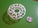 Hexagonal Torus (Wireframe) in White Strong & Flexible