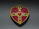 Cosmic Heart Brooch in White Strong & Flexible