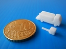 Airport GSE 1:400 Lavatory Truck  in White Strong & Flexible Polished