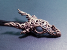 Dragon of Swirls in Stainless Steel