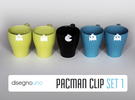 Party Accessories | Pacman (5 pz) in White Strong & Flexible Polished