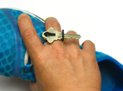 Keon V1*, a ring that holds your key(s) in White Strong & Flexible Polished
