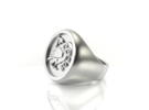 Owl of Wisdom ring in White Strong & Flexible