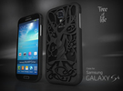 """Samsung Galaxy S4 case """"Tree of life"""" in White Strong & Flexible"""