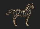 New-Horse-2 in White Strong & Flexible Polished