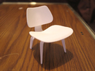"Herman Miller Eames Molded Plywood Chair 3.1"" tall in White Strong & Flexible Polished"