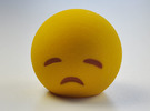 3D Emoji Sad with Eyes Closed in Full Color Sandstone