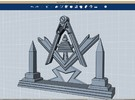 Masonic Display Piece Large in Stainless Steel