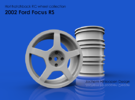 2002 Ford Focus RS 1/10th RC wheel in White Strong & Flexible