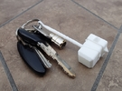 Cael Hammer Keychain in White Strong & Flexible