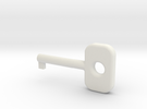 Cuff Key in White Strong & Flexible