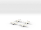 Go-242 German Glider 1/700X4 in White Strong & Flexible