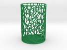Pen Holder Voronoi in Green Strong & Flexible Polished