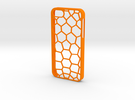 Pentagon iPhone 5/5s Case in Orange Strong & Flexible Polished