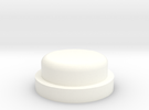 Fire Button - All Materials in White Strong & Flexible Polished