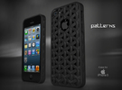 "Iphone 5, 5S ""Patterns"" Cover Case in Black Strong & Flexible"