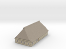 1/300 North German Timberframe House - clay wall in Full Color Sandstone
