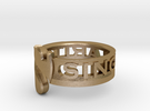 SU2013 Ringsize12 in Polished Gold Steel