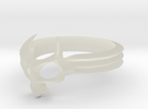 Skull Mask Ring -v3 in Transparent Acrylic